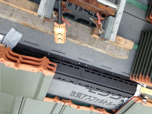 平板瓦の屋根工事